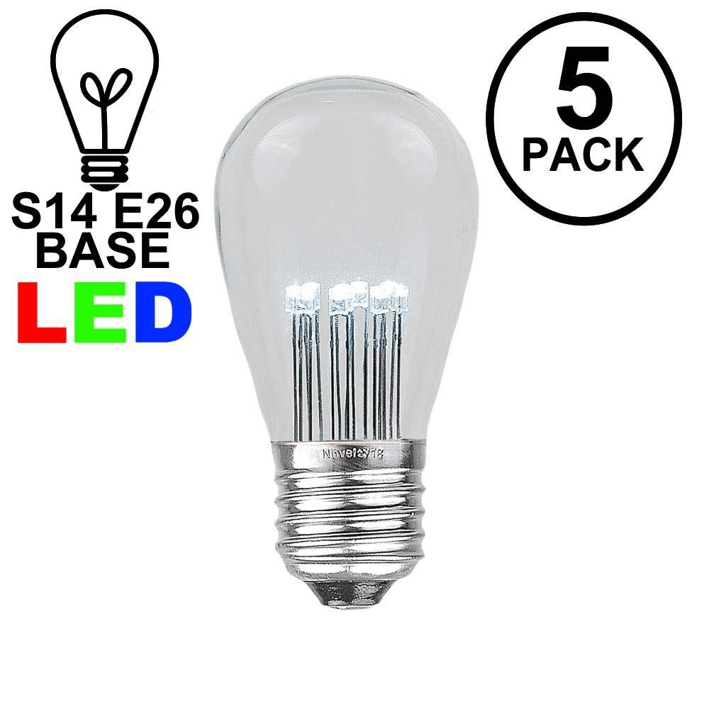 Picture of Warm White S14 LED Medium Base e26 Bulbs w/ 16 LEDs - 5pk
