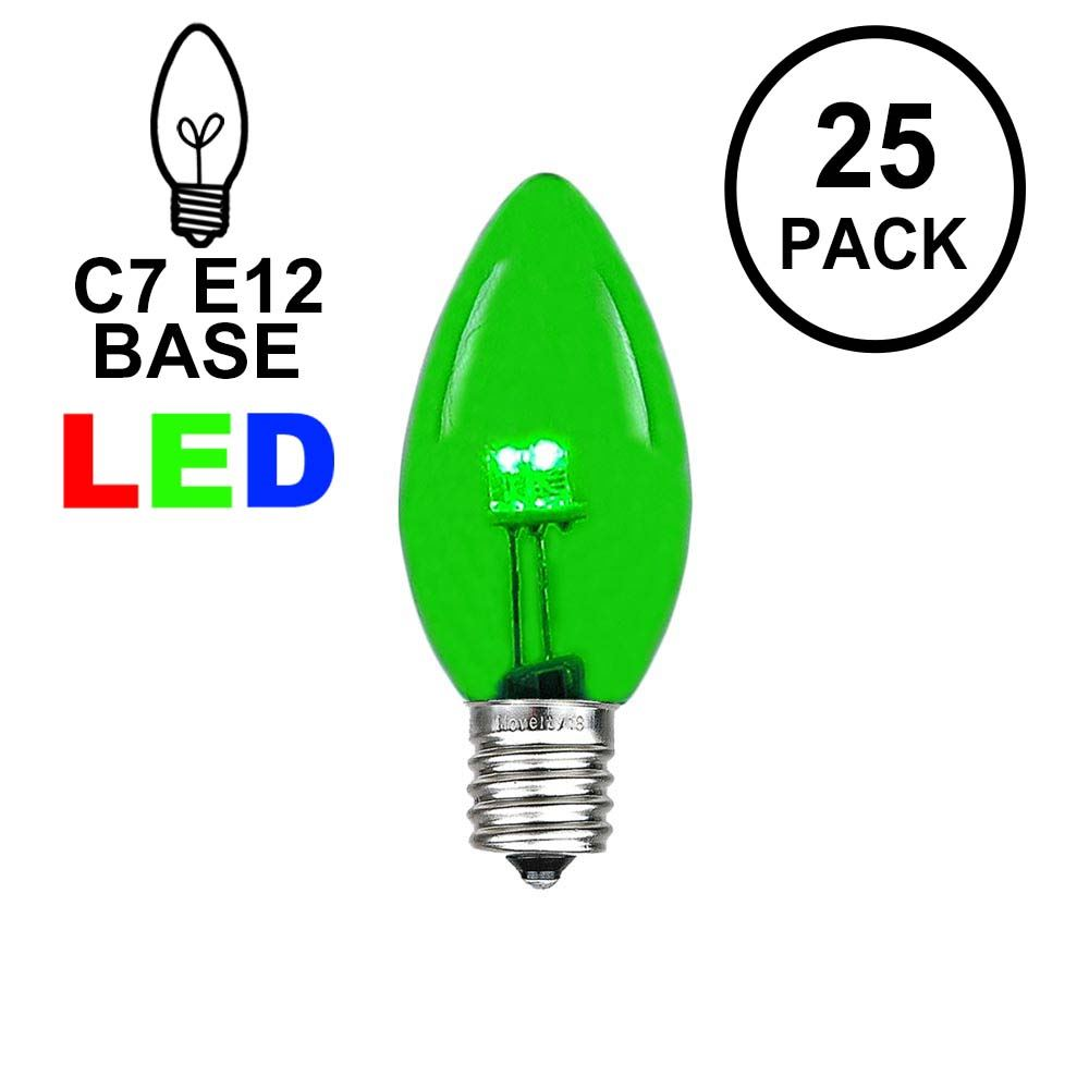Picture of C7 - Green - Glass LED Replacement Bulbs - 25 Pack