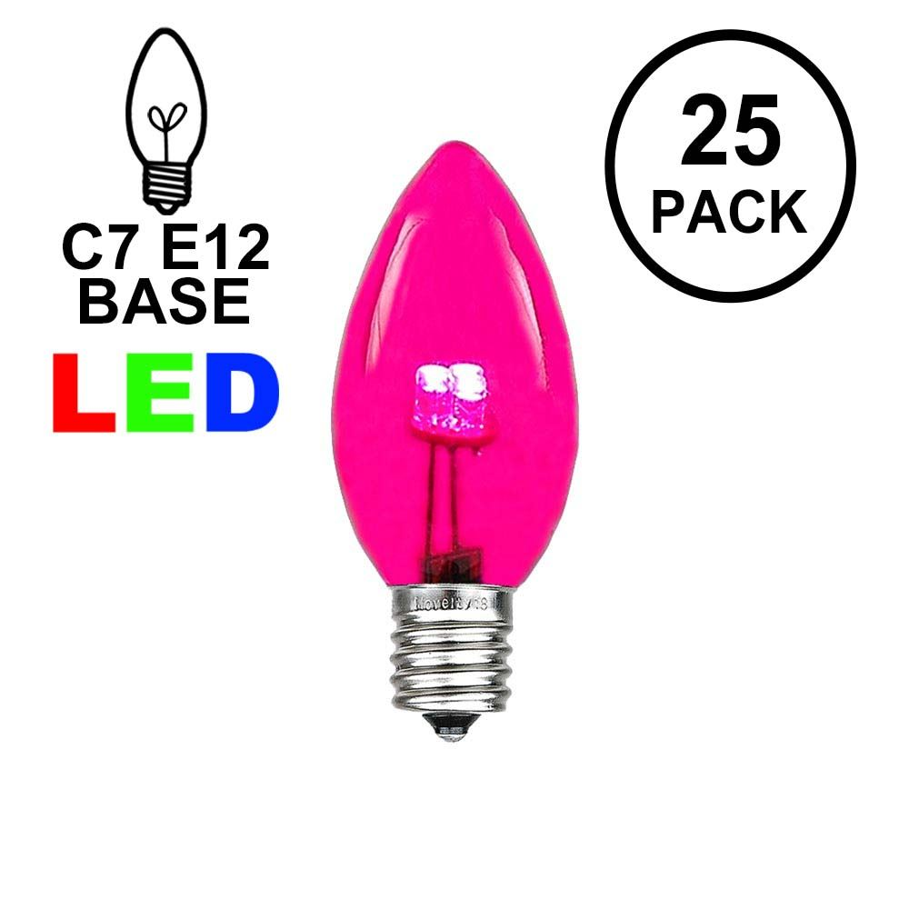 Picture of C7 - Pink - Glass LED Replacement Bulbs - 25 Pack