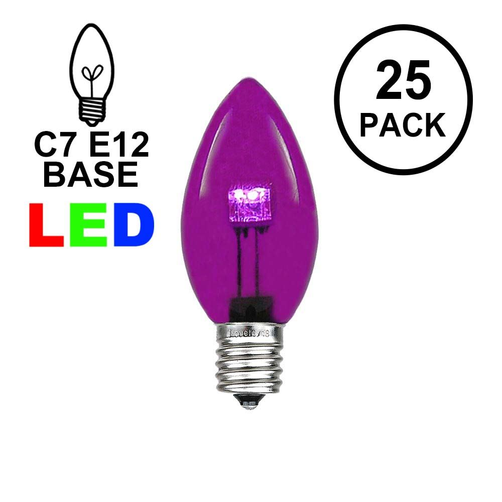 Picture of C7 - Purple - Glass LED Replacement Bulbs - 25 Pack