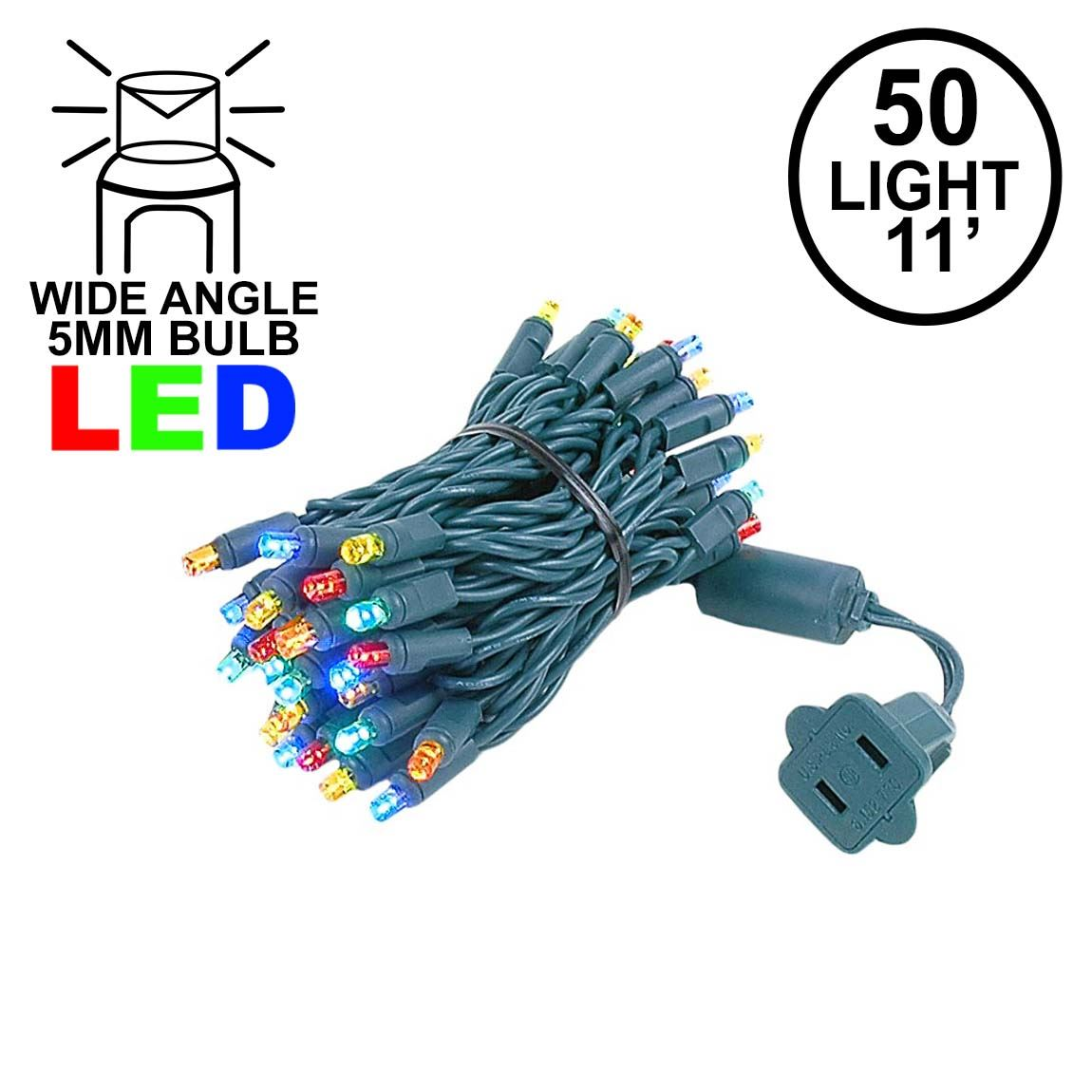 Picture of 50 LED Multi LED Christmas Lights 11' Long