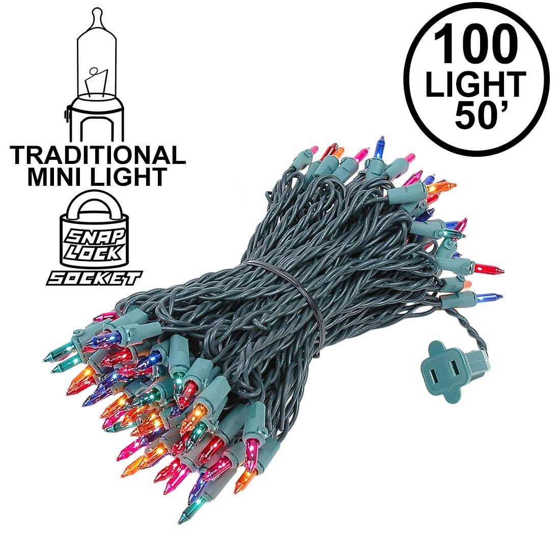 Picture of Multi Christmas Mini Lights 100 Light 50 Feet Long