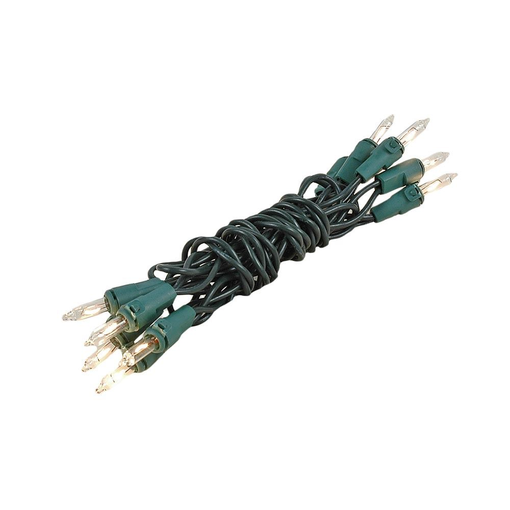 Picture of Non Connectable Green Wire Mini Lights 10 Light 5.5'