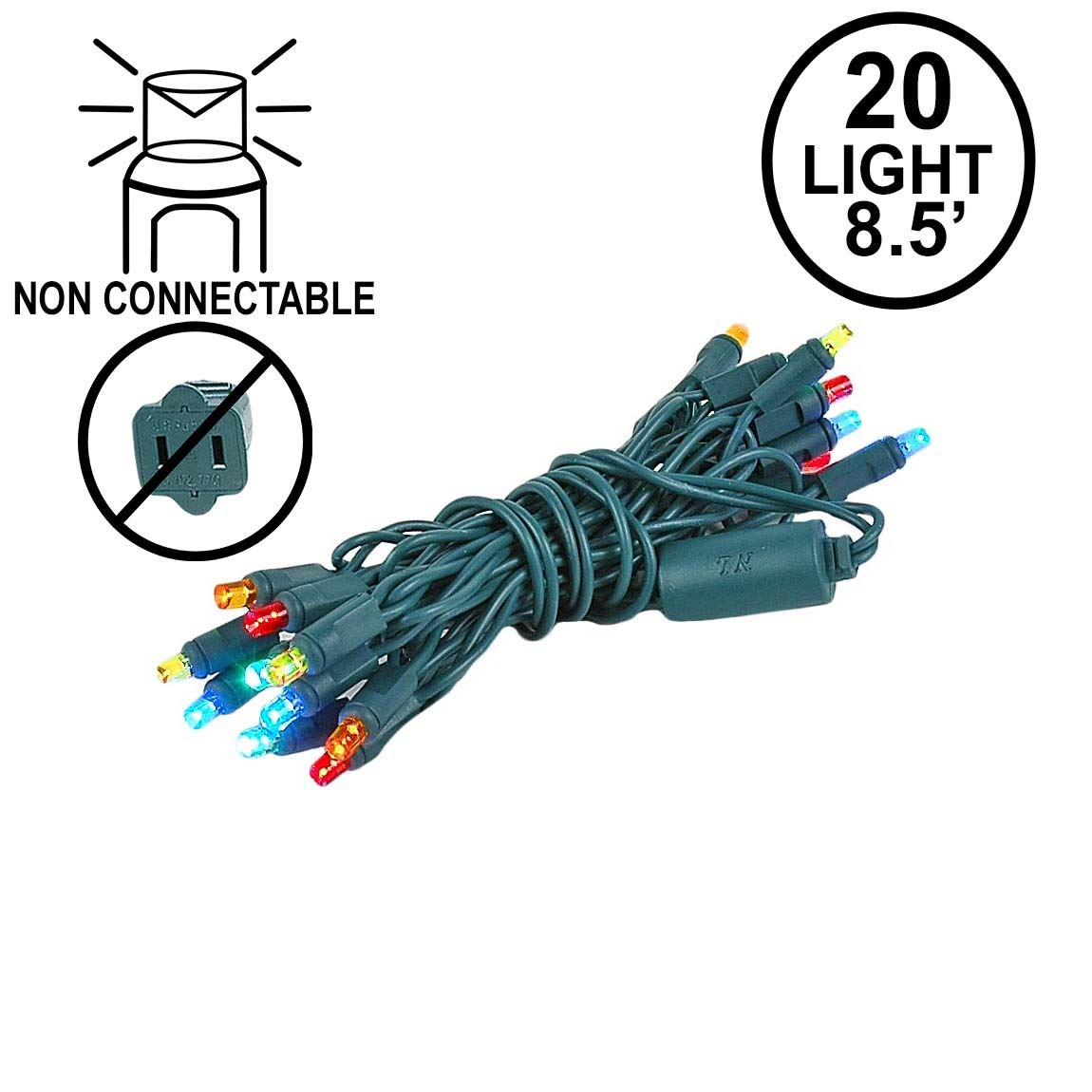 Craft Led Mini Christmas Lights Novelty Inc Wiring Leds In Parallel 20 Light Non Connectable Multi Green Wire