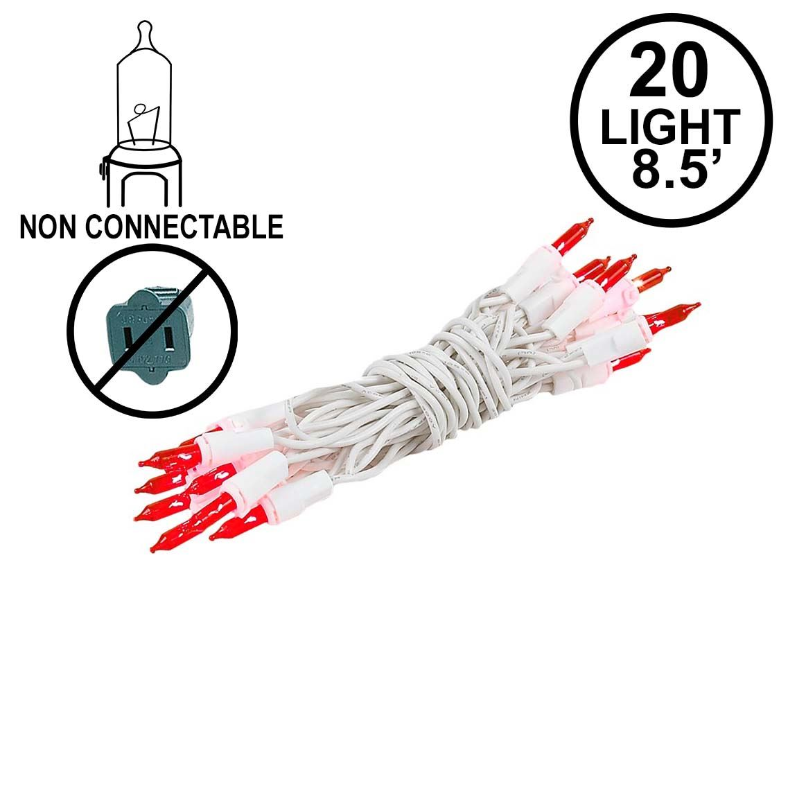 White Wire Commercial Grade Mini Christmas Light Sets on