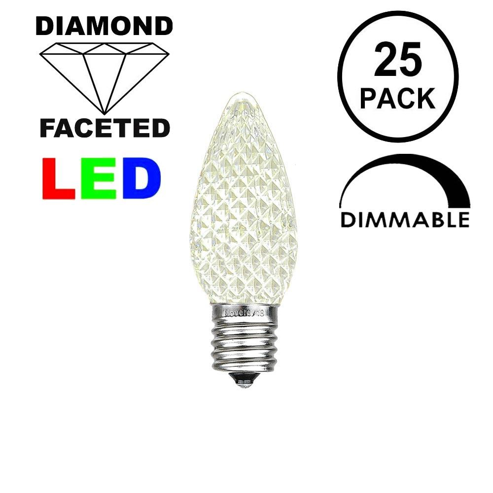 Picture of Warm White C7 LED Replacement Bulbs 25 Pack