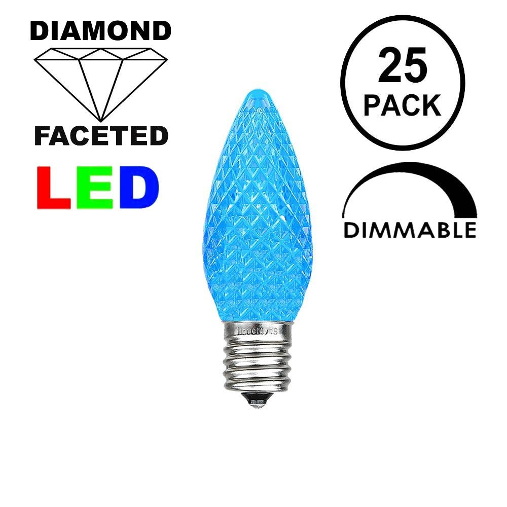 Picture of Blue C7 LED Replacement Bulbs 25 Pack
