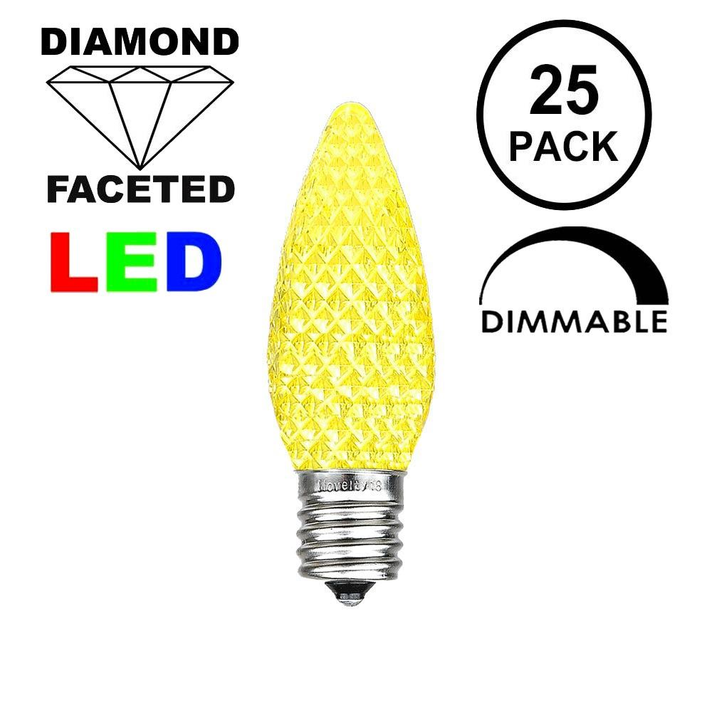 Picture of Yellow C9 LED Replacement Bulbs 25 Pack