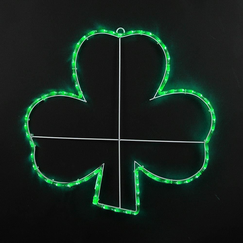 "Picture of 24"" Shamrock LED St. Patrick's Day Motif"