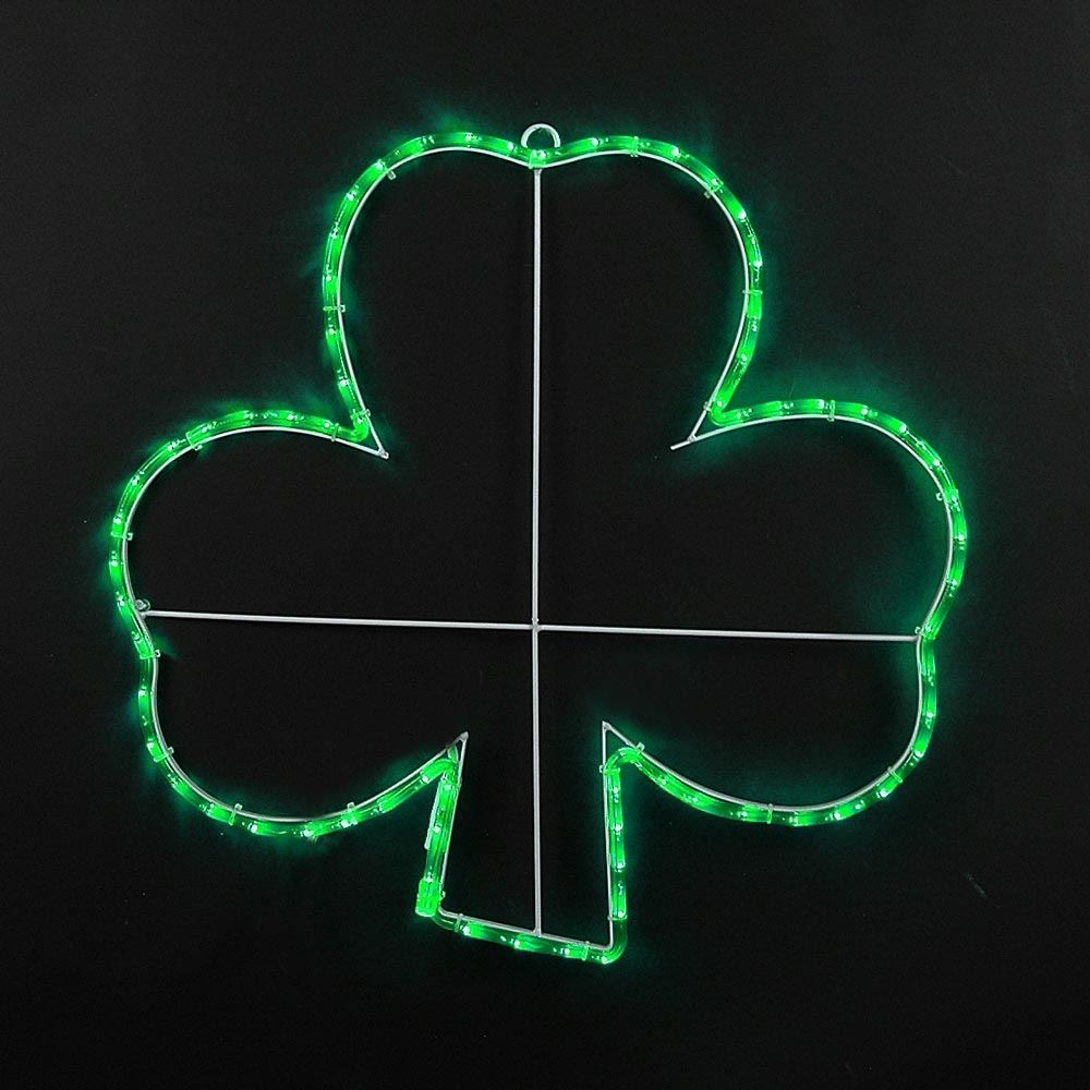 "Picture of 12"" Shamrock LED St. Patrick's Day Motif"