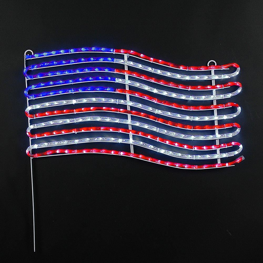 "Picture of 24"" American Flag LED Rope Light Motif"
