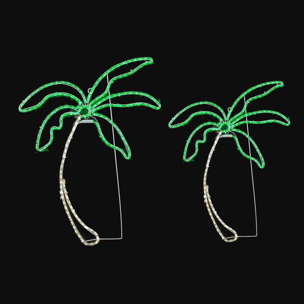 Novelty Lights Led Palm Tree Rope Light Motif Sculpture