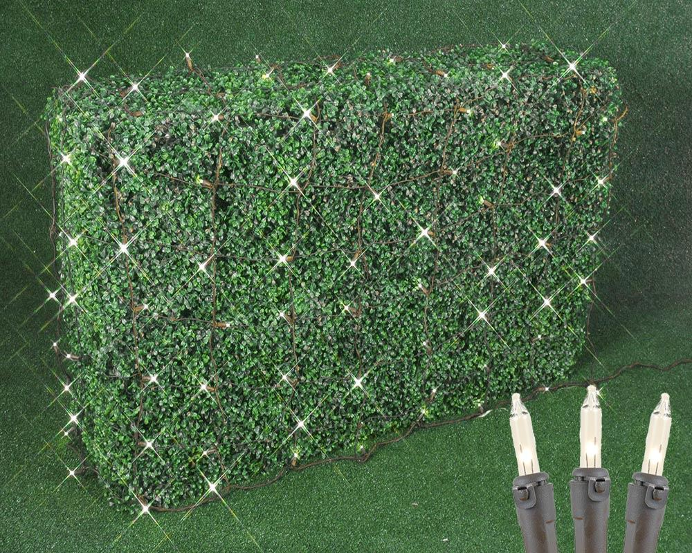 Picture of 4' X 6' Super Bright Clear Net Lights - Brown Wire