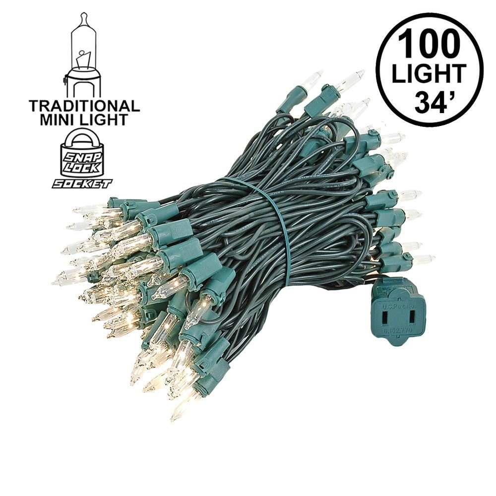 Picture of Clear Christmas Mini Lights 100 Light 34 Feet Long
