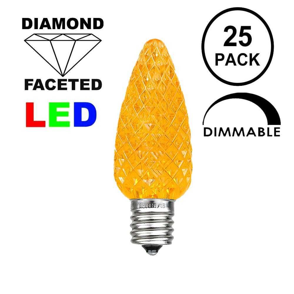 Picture of Amber C9 LED Replacement Bulbs 25 Pack