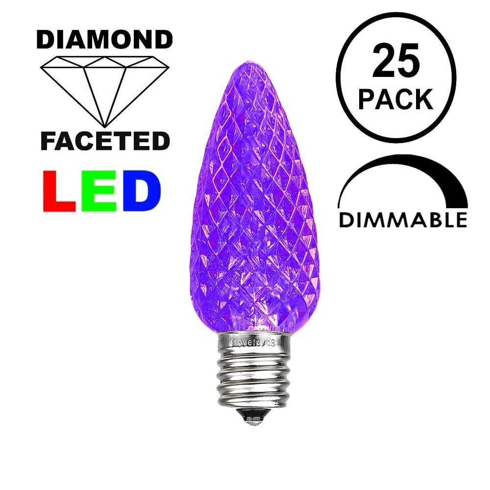 Picture of Purple C9 LED Replacement Bulbs 25 Pack