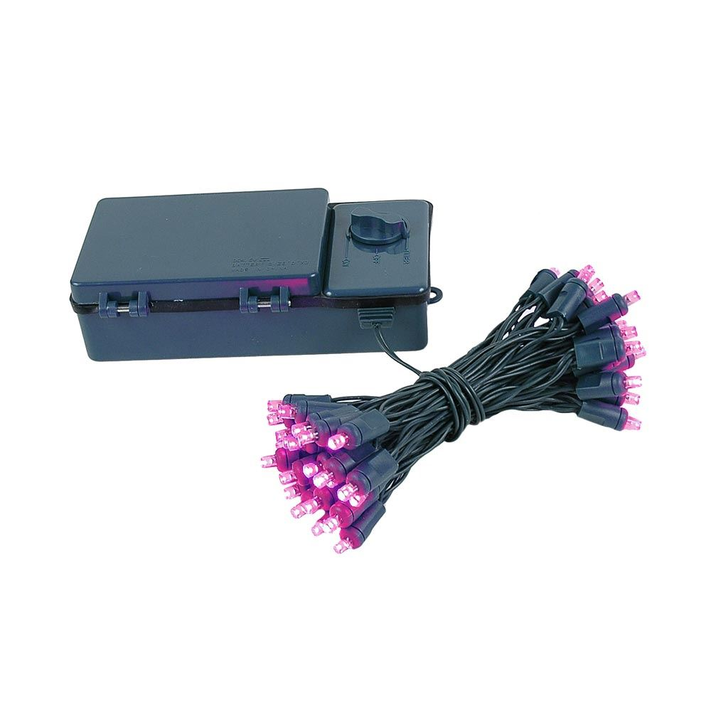 Picture of 50 LED Battery Operated Lights Pink