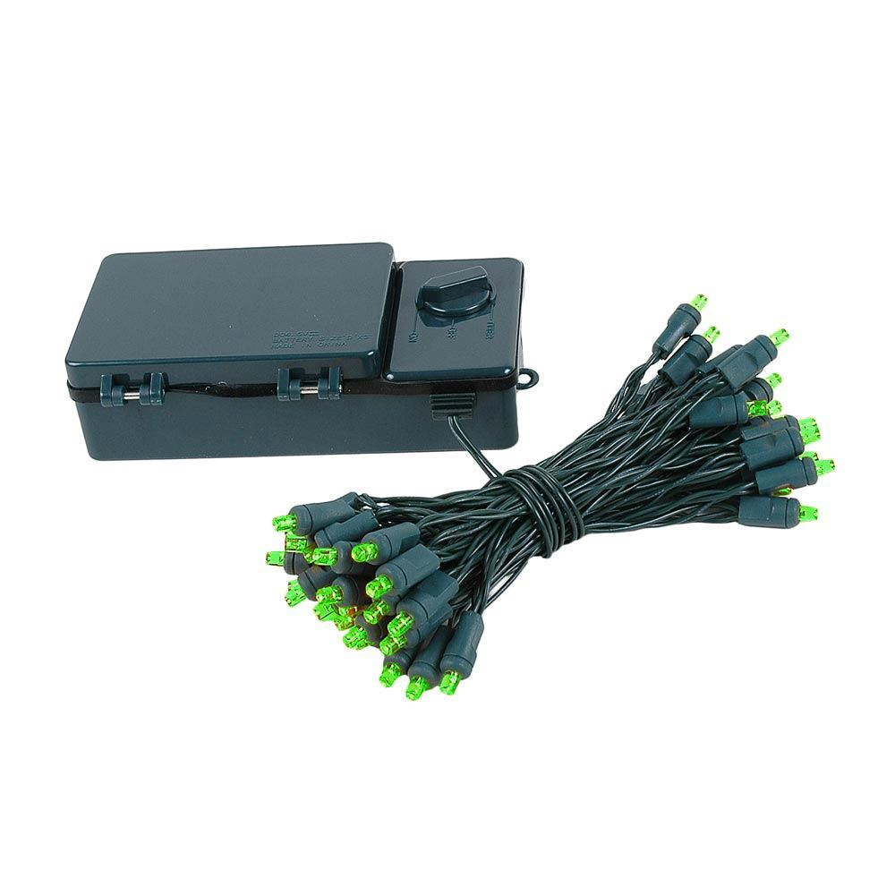 Picture of 50 LED Battery Operated Lights Green