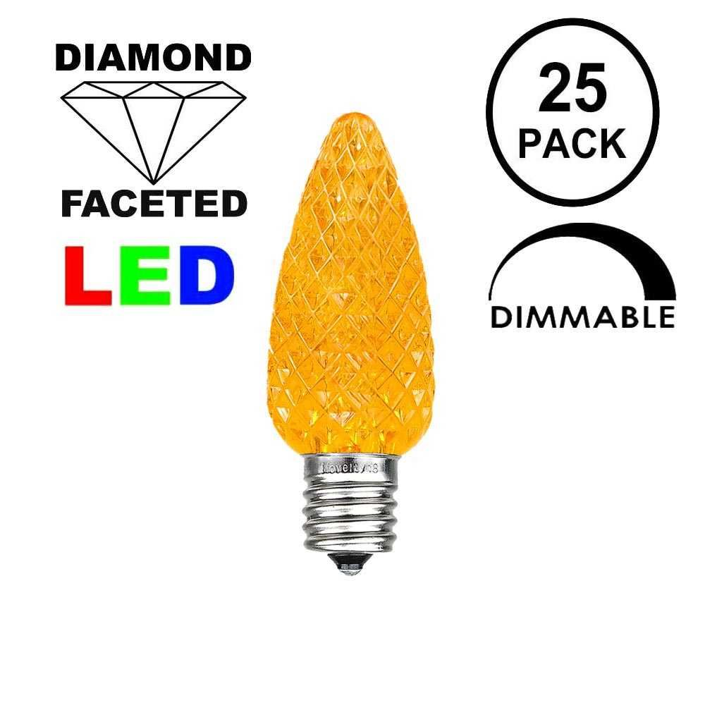 Picture of Amber/Orange C7 LED Replacement Bulbs 25 Pack