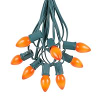 Picture for category Amber & Orange C7 Christmas String Light Sets