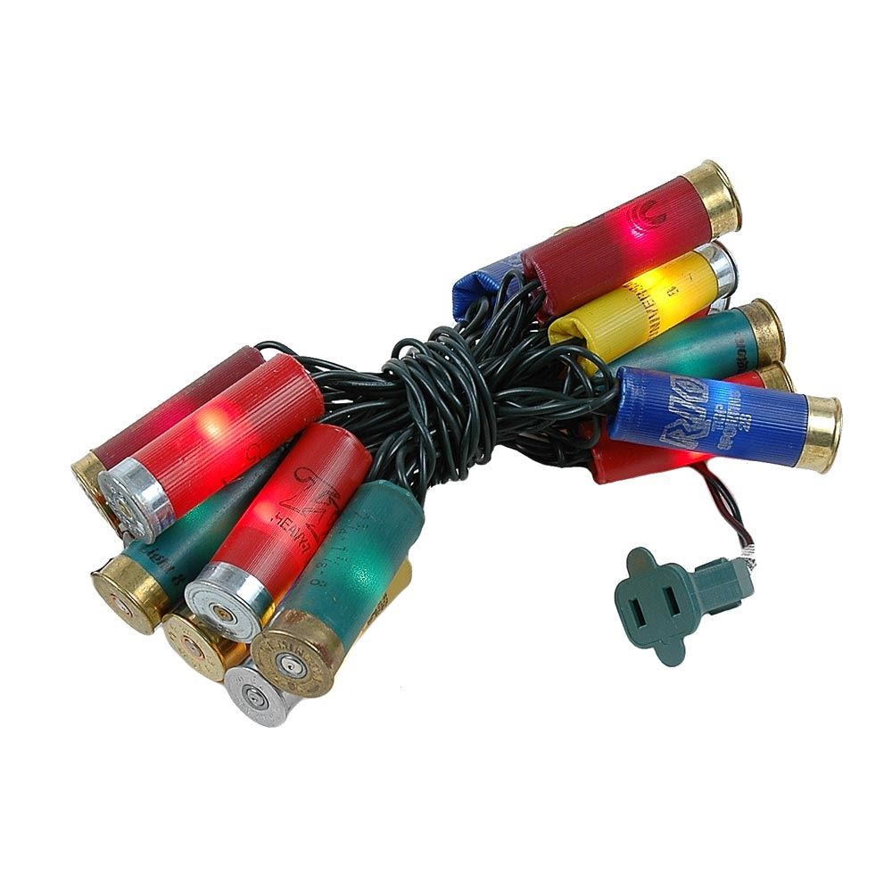 Picture of Shotgun Shell Lights Multi Green Wire