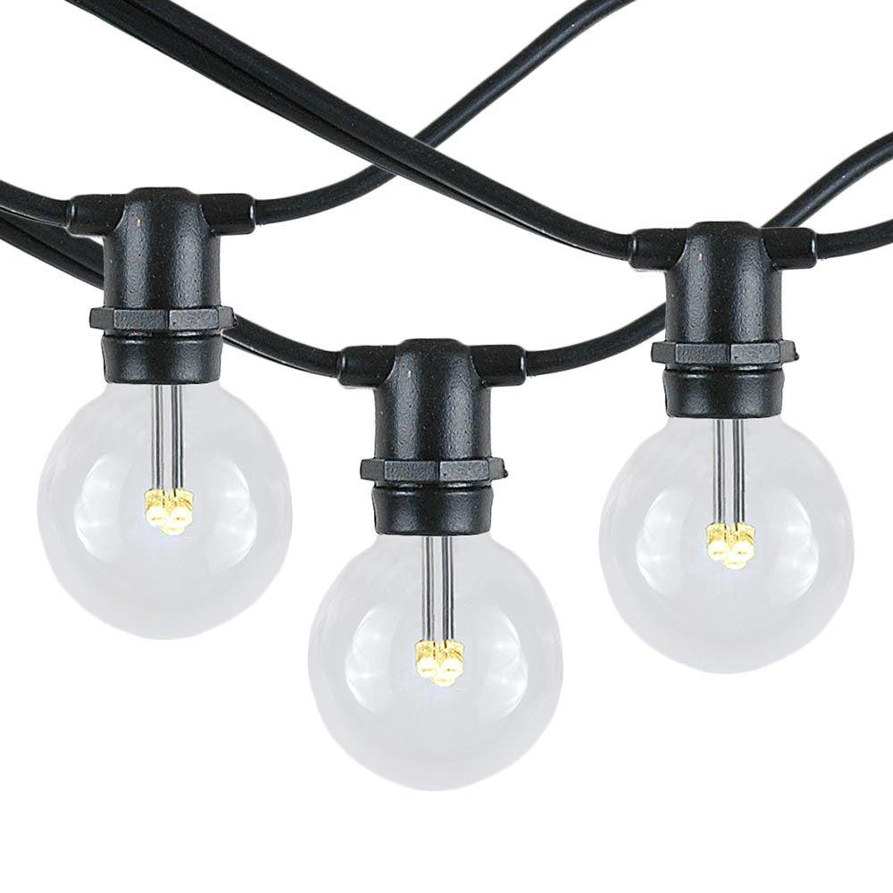 Picture of 25 Warm White LED G40 Commercial Grade Candelabra Base Light Set