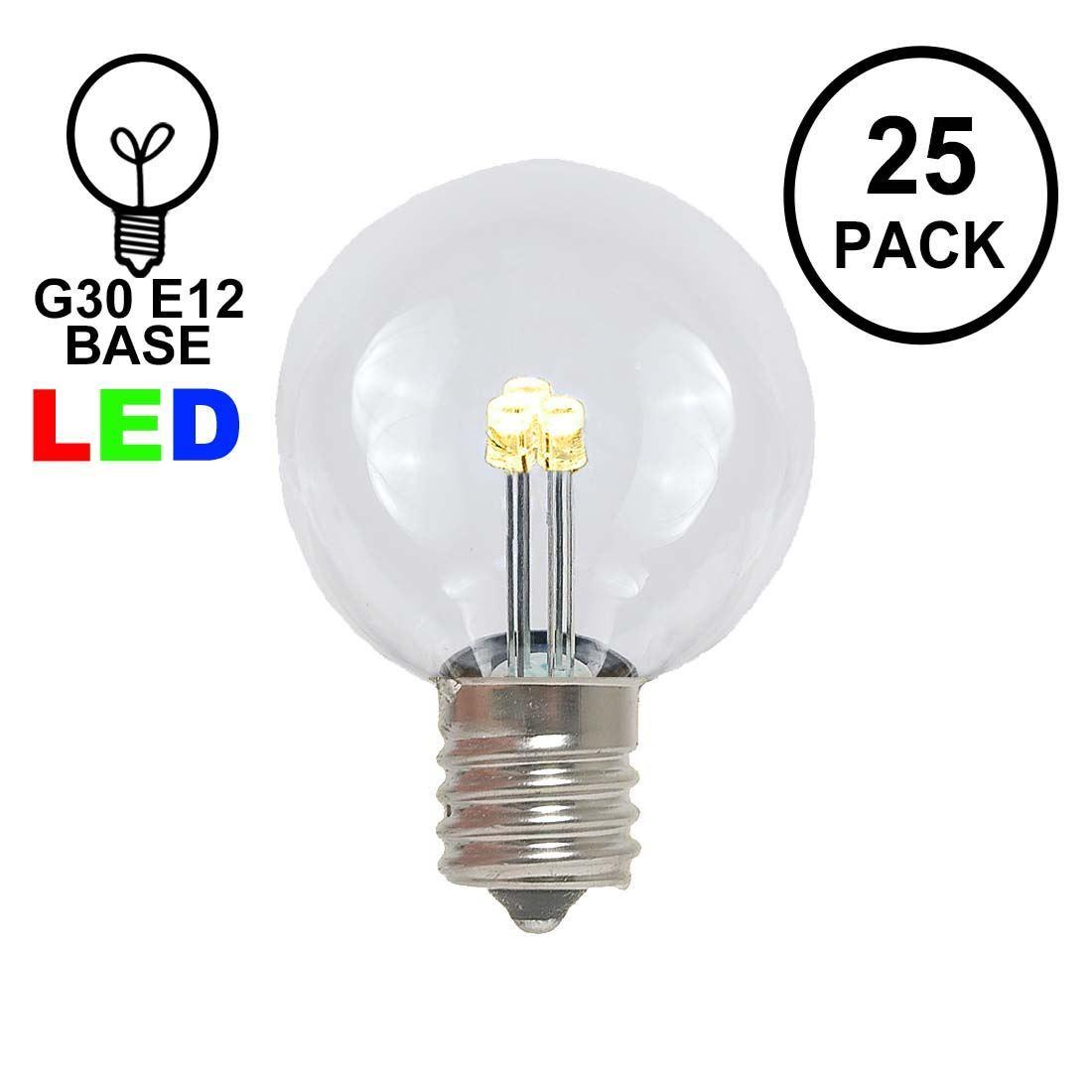 Picture of Designer Series Warm White G30 LED  Base e12 Bulbs 25 Pack