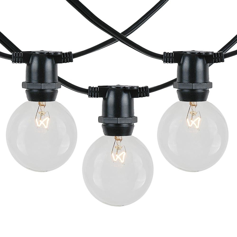 Picture of 25 Clear G50 Commercial Grade Intermediate Base Light Set