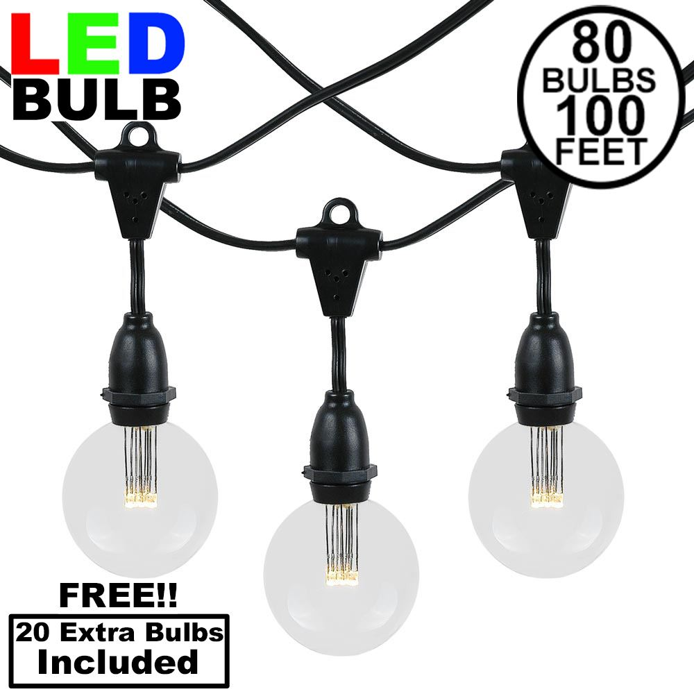 Picture of 80 Warm White G50 LED Suspended Commercial Grade Intermediate Base Light Set