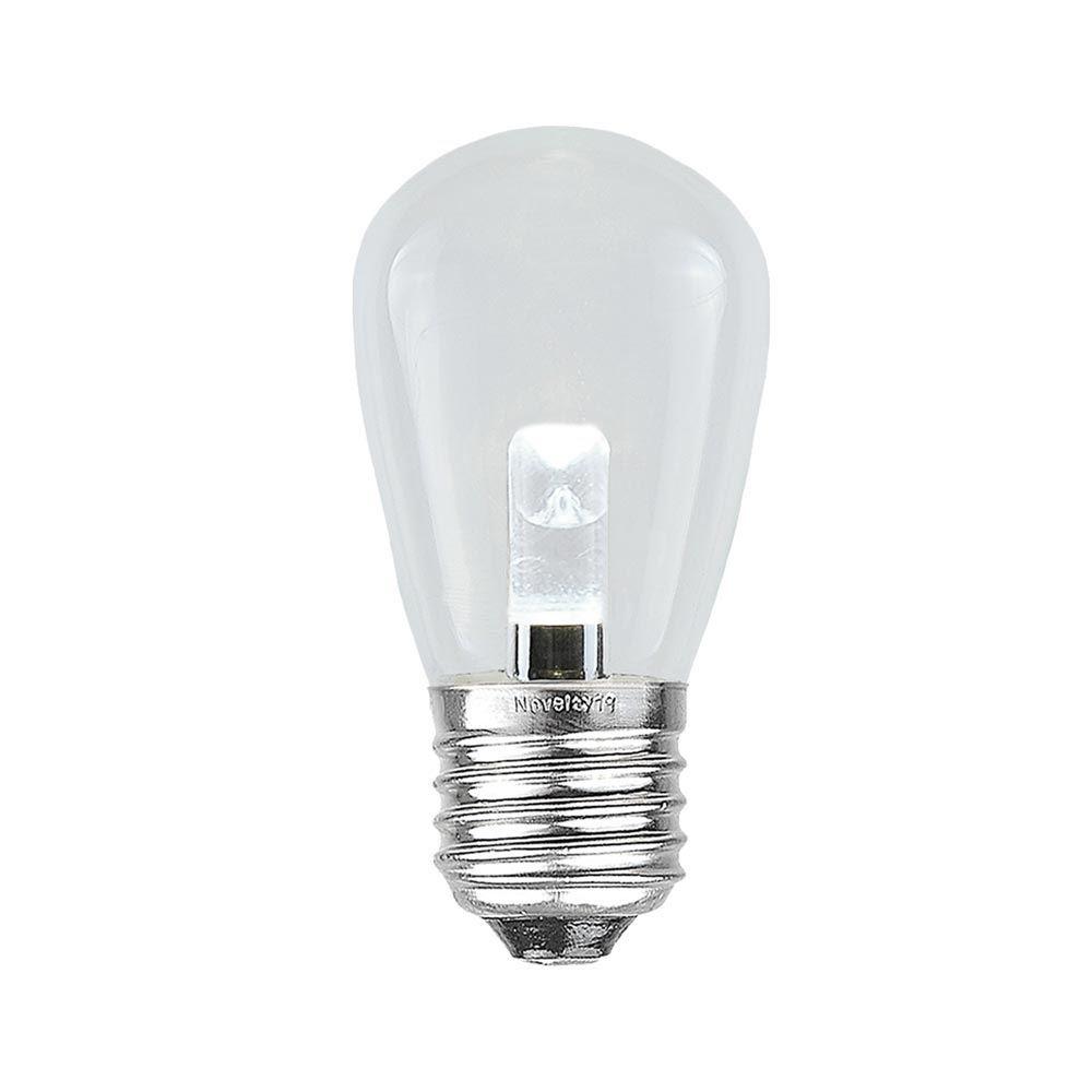 Picture of Designer Series Pure White S14 LED Medium Base e26 Bulbs 25 Pack
