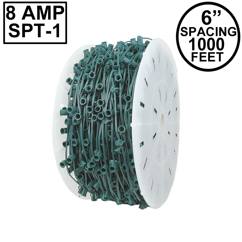 "Picture of C7 1000' Spool 6"" Spacing 8 Amp Green Wire"