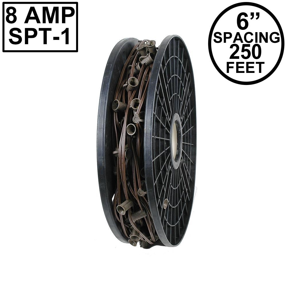 "Picture of C9 250' Spool 6"" Spacing 8 Amp Brown Wire"