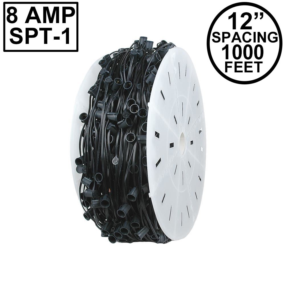 "Picture of C9 1000' Spool 12"" Spacing 8 Amp Black Wire"