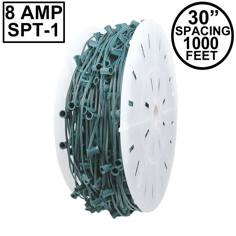 "Picture of C9 1000' Spool 30"" Spacing 8 Amp Green Wire"