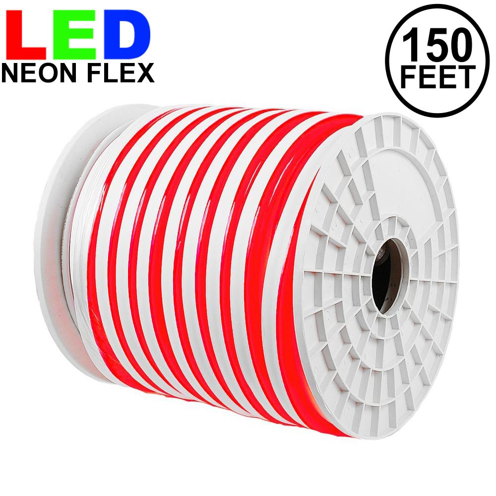 Picture of 150 Ft Red LED Neon Flex Rope Light Spool 120 Volt