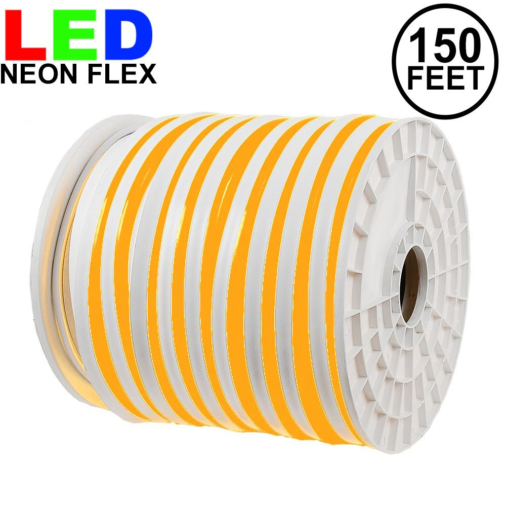 Picture of 150 Ft Amber LED Neon Flex Rope Light Spool 120 Volt