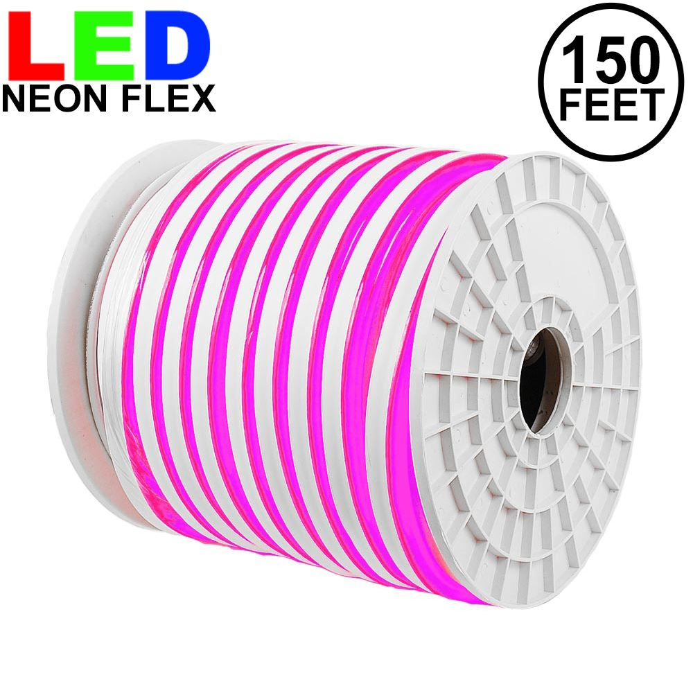 Picture of 150 Ft Pink LED Neon Flex Rope Light Spool 120 Volt