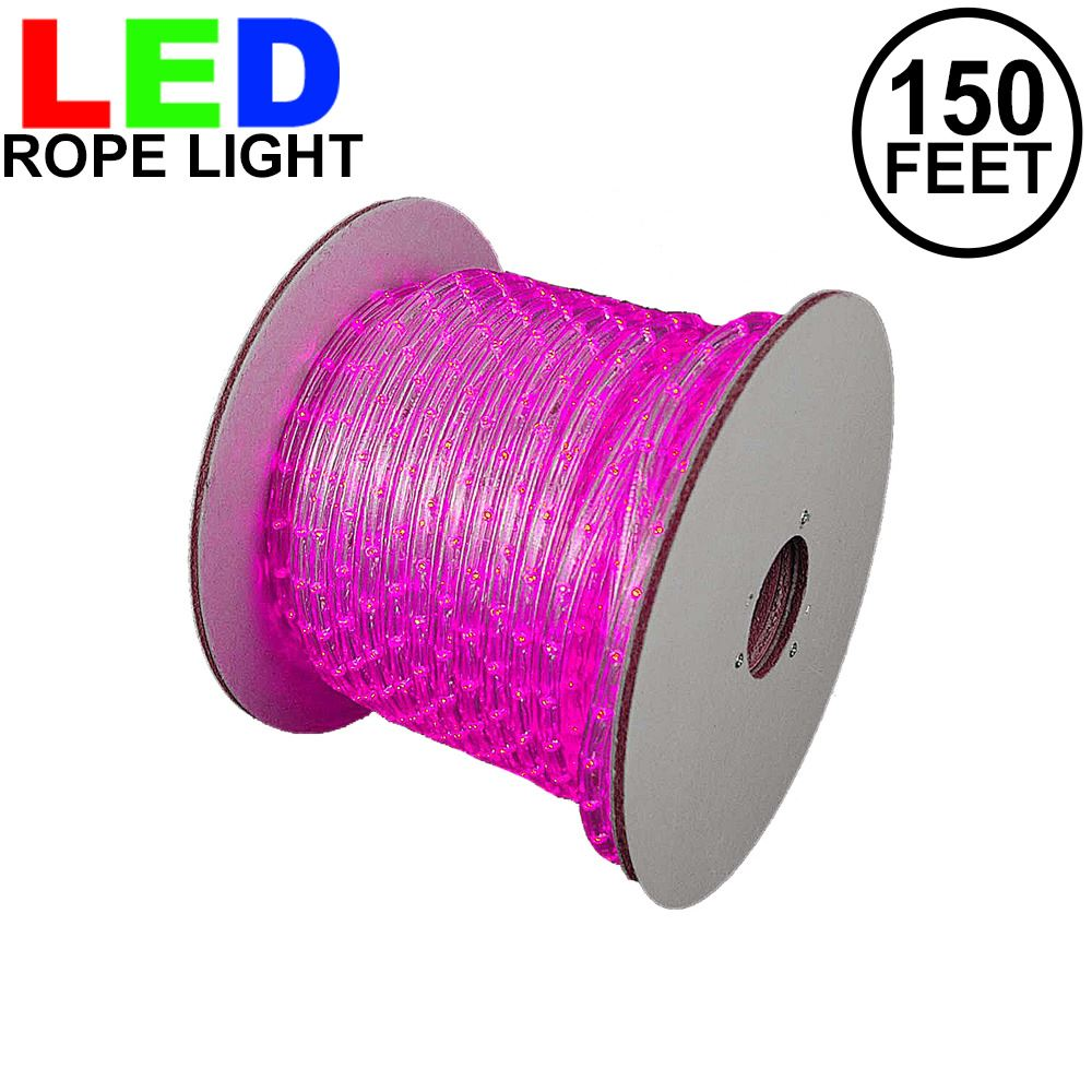 "Picture of Pink LED Rope Light Spool 150' 1/2"" 2 Wire 120V"