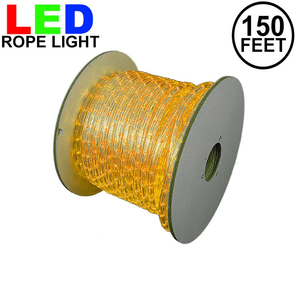 "Picture of Yellow LED Rope Light Spool 150' 1/2"" 2 Wire 120V"
