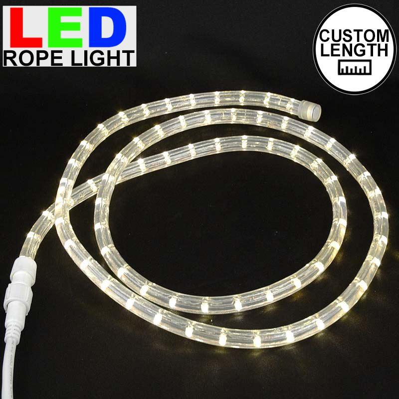 Picture Of Warm White Led Custom Rope Light Kit 1 2 Wire 120v
