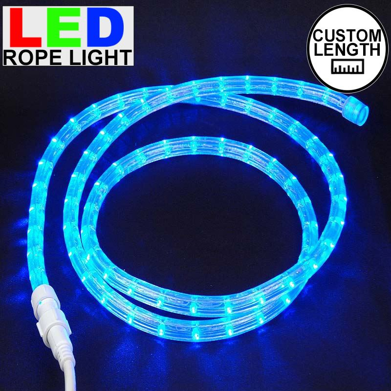 "Picture of Blue LED Custom Rope Light Kit 1/2"" 2 Wire 120v"