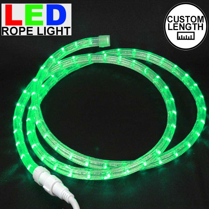"Picture of Green LED Custom Rope Light Kit 1/2"" 2 Wire 120v"