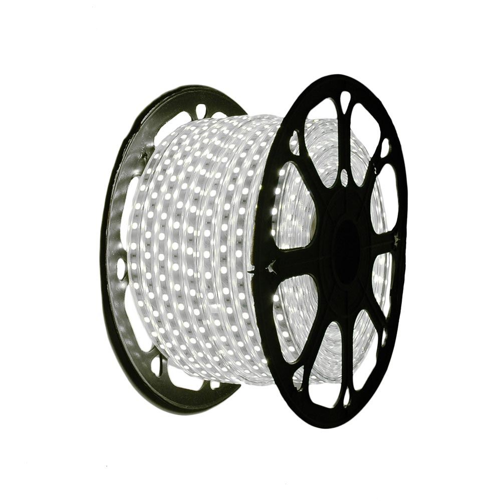 """Picture of Pure White LED Strip Light Spool 164' of 1/2"""" 2 Wire 120V"""