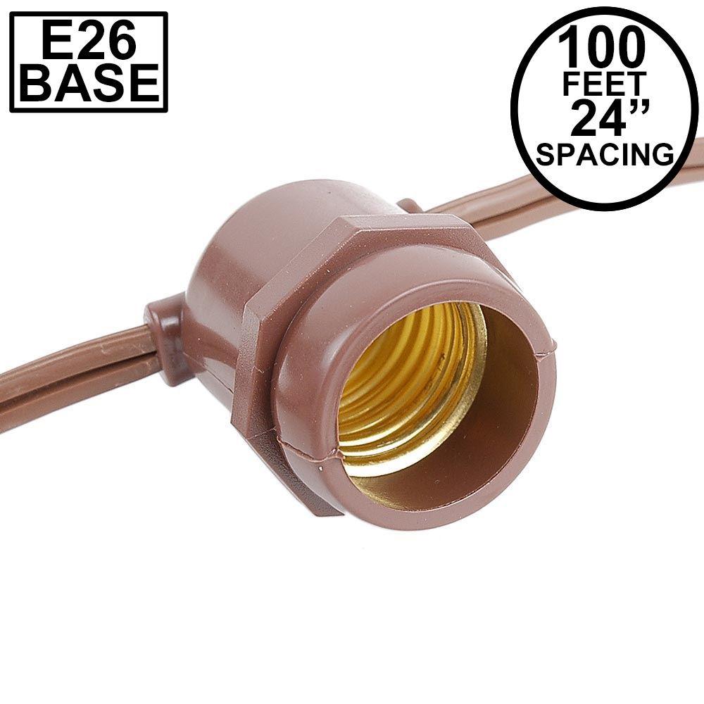 Picture of 100' Brown Commercial Grade Stringer (E26 Base)