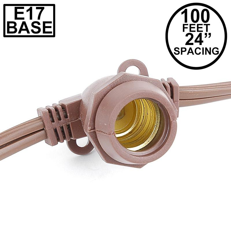 Picture of 100' Brown Commercial Grade Stringer 80 Intermediate (e17) Base Sockets