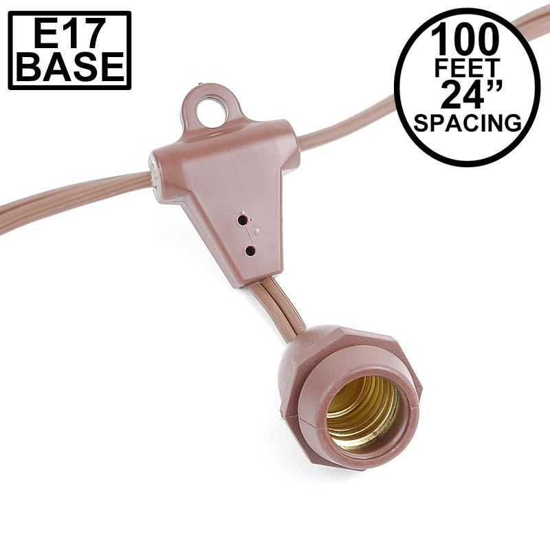 Picture of 100' Suspended Brown Commercial Grade Stringer 80 Intermediate (e17) Base Sockets