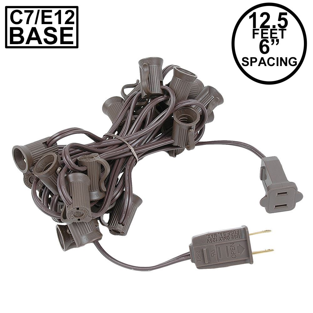 "Picture of C7 12.5' Stringers 6"" Spacing - Brown Wire"