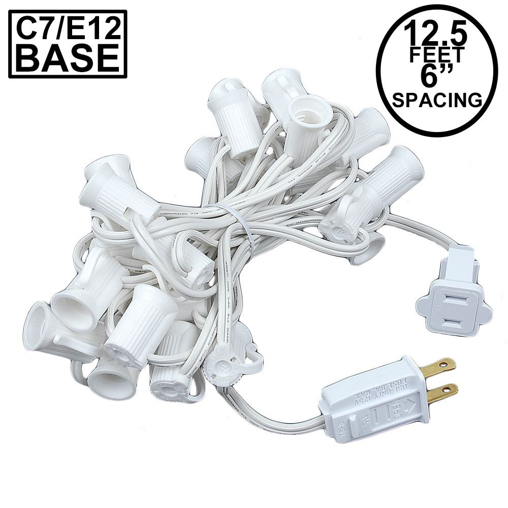 "Picture of C7 12.5' Stringers 6"" Spacing - White Wire"