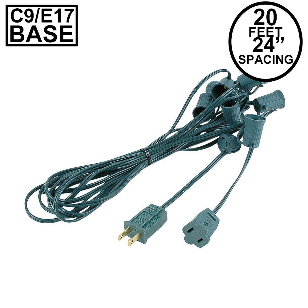 "Picture of C9 22' Stringers 24"" Spacing Green Wire"