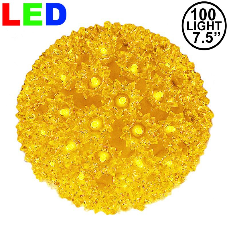 "Picture of 100 Yellow LED 7.5"" Sphere"
